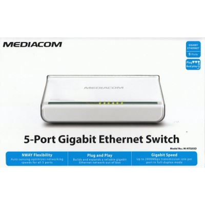 SWITCH GIGABIT 5 PORTE